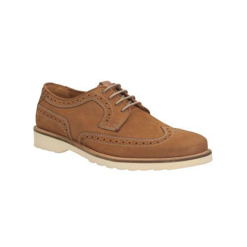 Clarks Mens Smart Haymarketlimit Nubuck Shoes In Tobacco