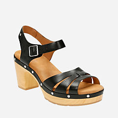 Ledella Trail Black Leather womens-sandals-heels