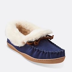 Gintra Adira Moccasin Blue womens-slippers