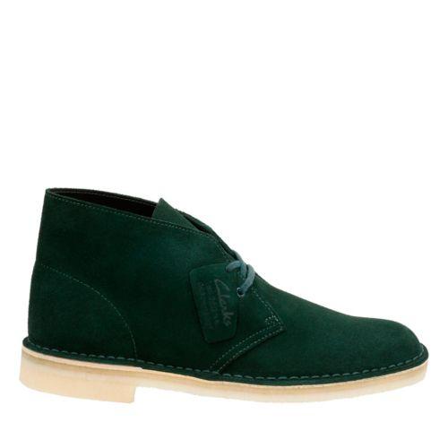 60s Mens Shoes | 70s Mens shoes – Platforms, Boots Clarks Mens Desert Boot In Dark Green Suede 10.5 Medium $99.99 AT vintagedancer.com
