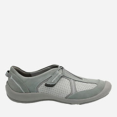 Asney Slipon Grey Nubuck womens-active