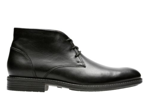 Truxton Top Black Waterproof Leather - Men&39s Dress Boots - Clarks