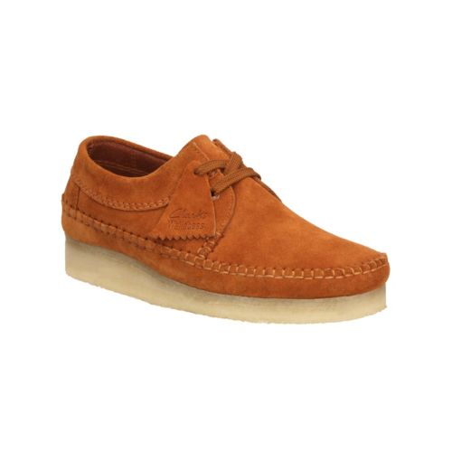 Clarks Weaver Mens Shoes in Rust