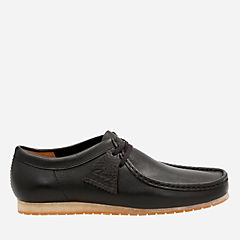 Wallabee Step Black Leather originals-mens-shoes