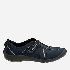 Asney Slipon Navy Nubuck womens-active