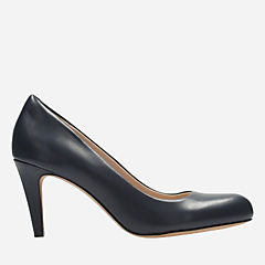 Carlita Cove Navy Leather womens-heels