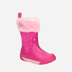 Lil Folk Rae Toddler Pink Leather girls-boots