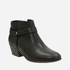 Boylan Dawn Black Leather womens-ankle-boots