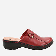 Hayla Marina Red Leather womens-clogs