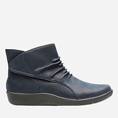Sillian Sway Navy Synthetic Nubuck womens-narrow-width