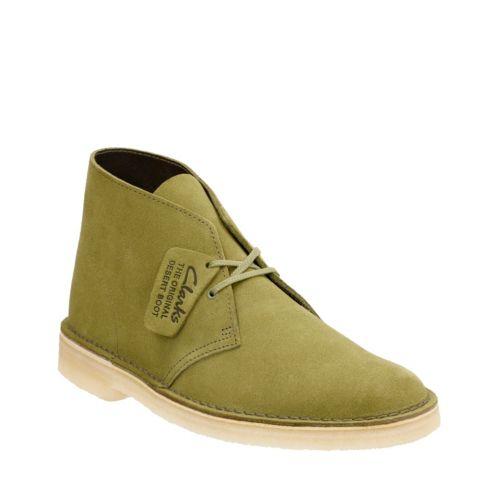 60s Mens Shoes | 70s Mens shoes – Platforms, Boots Clarks Mens Desert Boot In Evergreen Suede 12 Medium $140.00 AT vintagedancer.com