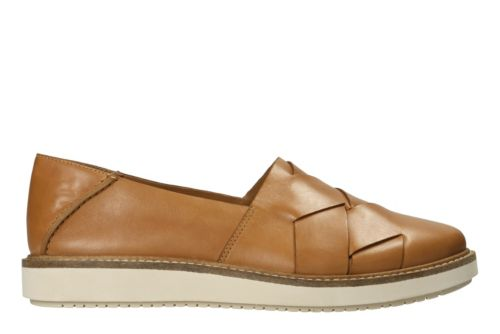 Glick Harvest Light Tan Leather Honeymoon Shoes For The