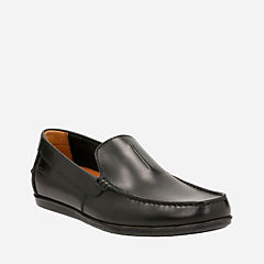 Bristow Race Black Leather mens-loafer-slip-on