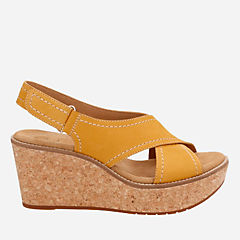 Aisley Tulip Yellow Nubuck womens-sandals-wedge