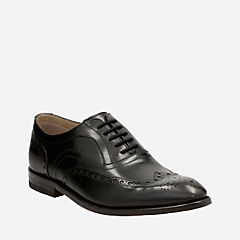 Twinley Limit Black leather mens-oxfords-lace-ups