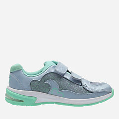 Piper Chat Toddler Blue Combi Lea girls-sneakers