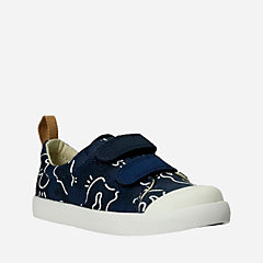 Halcy High First Navy Combi Canvas boys-sneakers