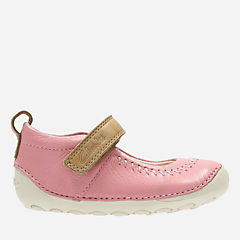Little Atlas Baby Vintage Pink Leather girls-pre-walker