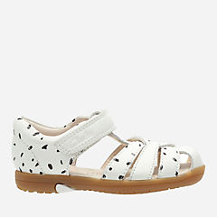 Softly Mae First White Combi Leather girls-junior