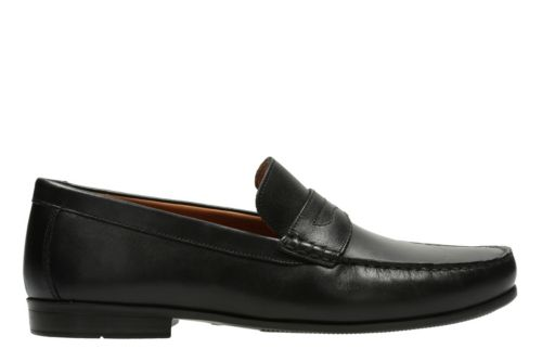 Claude Lane Black Leather Men S Loafers And Slip Ons