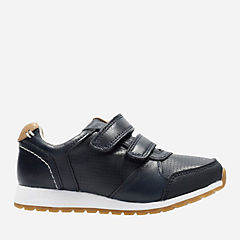 Zest Tex Toddler Navy Leather boys-sneakers