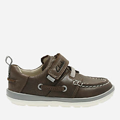 Softly Boat First Brown Leather boys-shoes