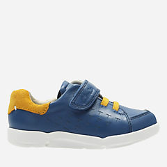 Tri Spin First Blue Leather boys-sneakers
