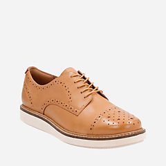 Glick Shine Light Tan Lea womens-casual-shoes
