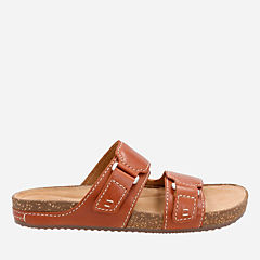Rosilla Tilton Tan Leather womens-flat-sandals