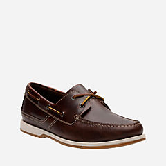 Fulmen Row Dark Tan Leather mens-boat-shoes