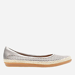 Danelly Adira Silver Leather womens-narrow-width