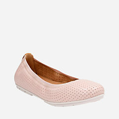 Un Tract Nude Pink Leather womens-flats