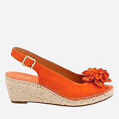 Petrina Bianca Orange Nubuck womens-sandals-wedge