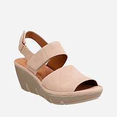 Clarene Allure Sand Nubuck womens-sandals-wedge