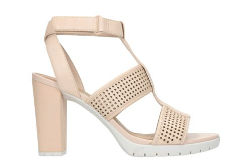 Pastina Castle Nude Leather womens-sandals-heels
