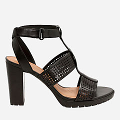 Pastina Castle Black Leather womens-heels