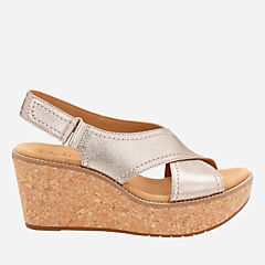 Aisley Tulip Gold Metallic Leather womens-sandals-wedge