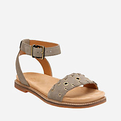 Corsio Amelia Sage Suede womens-flat-sandals