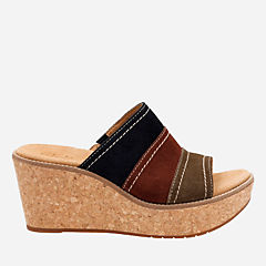 Aisley Lily Navy Combi Suede womens-sandals-wedge