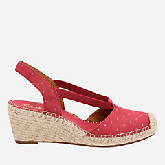 Petrina Kaelie Red Fabric womens-sandals-wedge