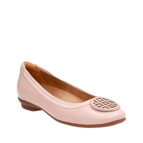 1960s Style Shoes Candra Blush In Dusty Pink Leather $95.00 AT vintagedancer.com