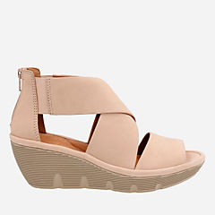 Clarene Glamor Sand Nubuck womens-sandals-wedge
