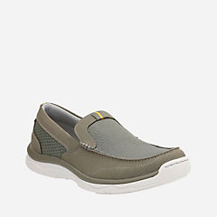Marus Step Olive Textile mens-boat-shoes