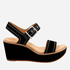 Aisley Orchid Black Suede womens-sandals-wedge