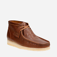 Wallabee Boot Tan Tumbled Leather mens-boots