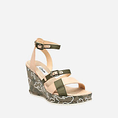 Adesha Art Khaki Combi womens-sandals-wedge