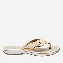 Breeze Mila Gold Synthetic womens-flip-flops-sandals