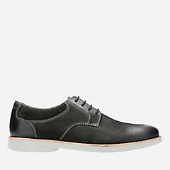 Pariden Plain Black Nubuck with Grey Outsole mens-dress-casual-shoes