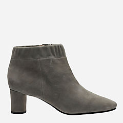 Grace Iris Grey Suede womens-ankle-boots