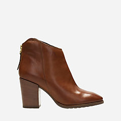 Lora Lana Tan Leather womens-ankle-boots